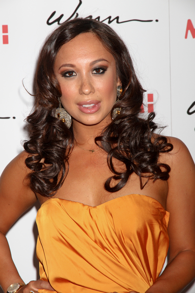 Cheryl Burke's Long, Brunette, Party, Curly Hairstyle