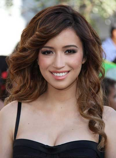 Christian Serratos Long, Curly, Sexy, Brunette Hairstyle