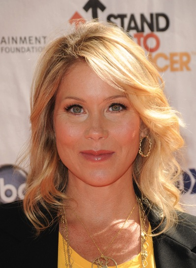 Christina Applegate Blonde, Layered, Wavy Hairstyle