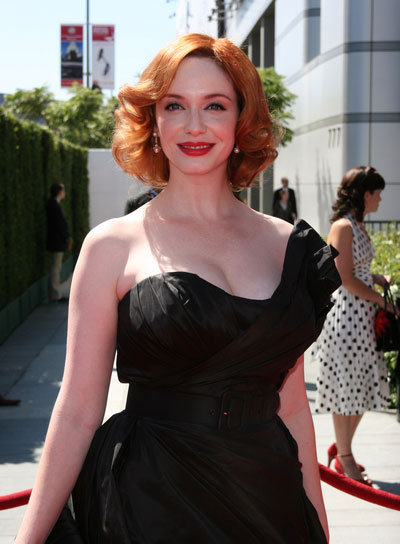 Christina Hendricks' Romantic, Red Bob