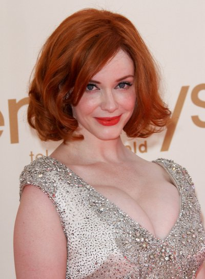 Christina Hendricks' Short, Sexy, Tousled, Red Bob