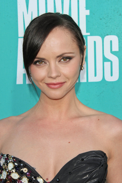 Christina Ricci's Chic, Black, Sophisticated, Updo Hairstyle