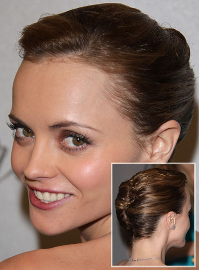 Christina Ricci Sophisticated Updo with Braids and Twists