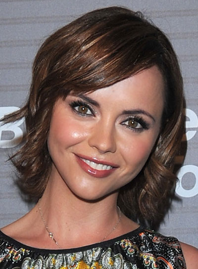 Christina Ricci Brunette Bob with Bangs