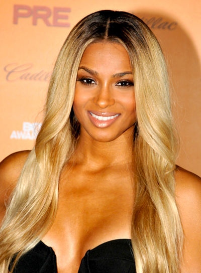Ciara's Long, Wavy, Blonde, Party Hairstyle