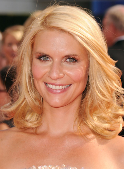 Claire Danes Medium, Sexy, Blonde Hairstyle
