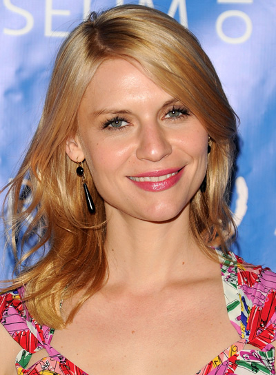 Claire Danes Medium, Wavy, Blonde Hairstyle