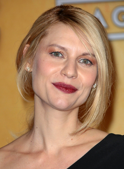 Claire Danes' Straight, Blonde, Romantic, Updo Hairstyle