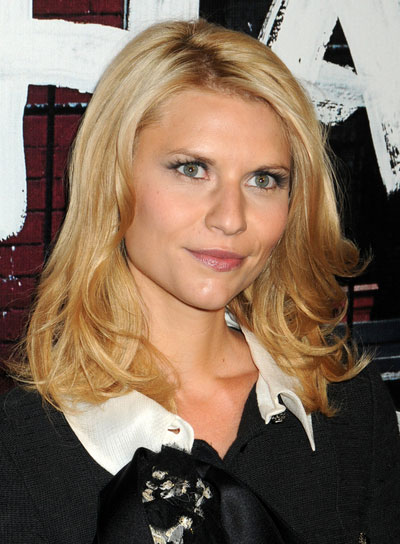 Claire Danes Wavy, Tousled, Blonde Hairstyle