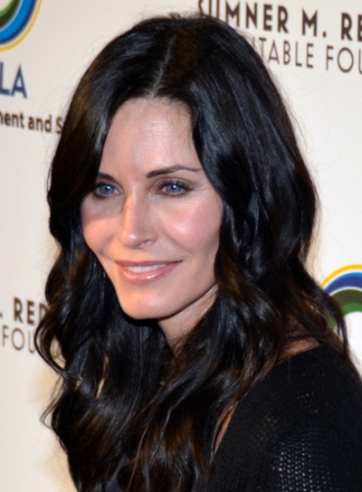 Courteney Cox-Arquette's Long, Brunette, Wavy, Romantic Hairstyle