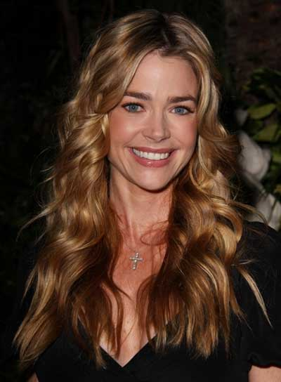 Denise Richards Long, Wavy, Brunette Hairstyle