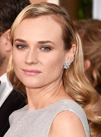 Diane Kruger with a Long, Blonde, Curly, Formal Hairstyle Pictures