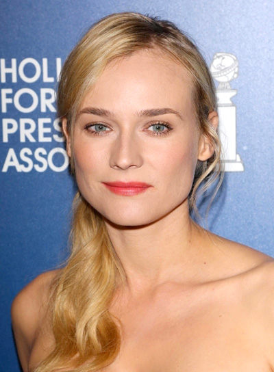 Diane Kruger's Long, Blonde, Sophisticated, Ponytail Hairstyle
