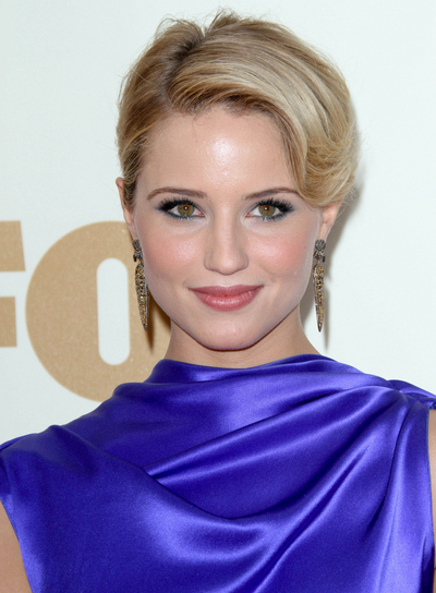 Dianna Agron Chic, Romantic, Blonde Updo