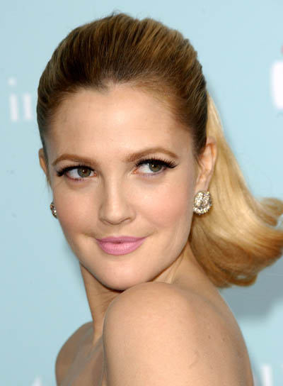 Drew Barrymore Long, Sexy Ponytail