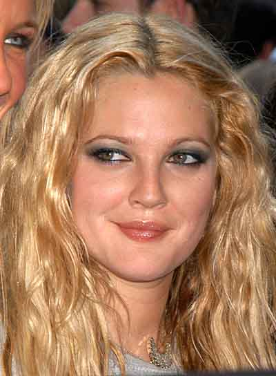 Drew Barrymore Long, Tousled, Blonde Hairstyle