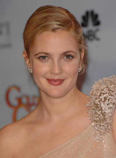 Drew Barrymore Straight Updo