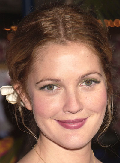 Drew Barrymore Tousled, Romantic Updo
