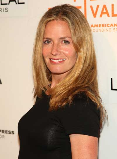 Elisabeth Shue Long, Straight, Sophisticated, Blonde Hairstyle