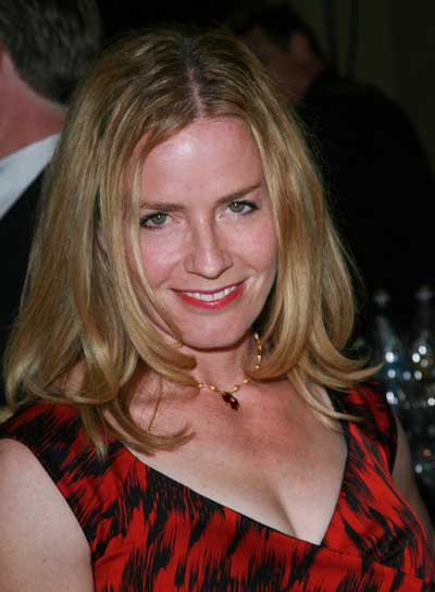 Elisabeth Shue Medium, Straight, Layered, Sophisticated, Blonde Hairstyle