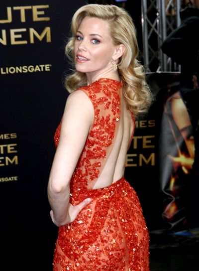 Elizabeth Banks Long, Wavy, Sophisticated, Romantic Hairstyle
