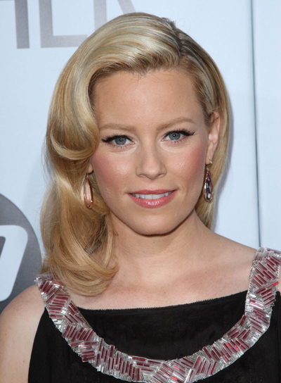 Elizabeth Banks Medium, Romantic, Blonde Hairstyle