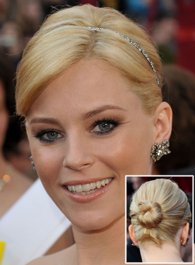 Elizabeth Banks Straight, Chic, Blonde Updo