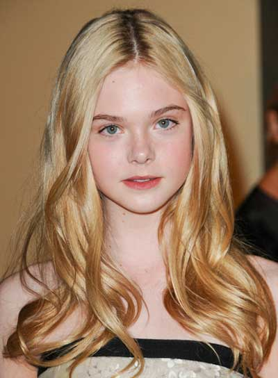 Elle Fanning Long, Romantic, Blonde Hairstyle