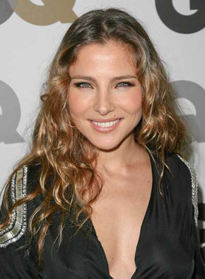 Elsa Pataky Long, Curly, Sexy, Brunette Hairstyle