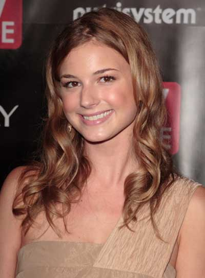 Emily VanCamp Medium, Brunette, Wavy Hairstyle