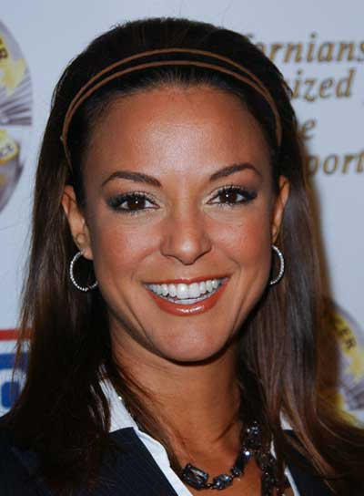 Eva LaRue Medium, Brunette, Chic Hairstyle