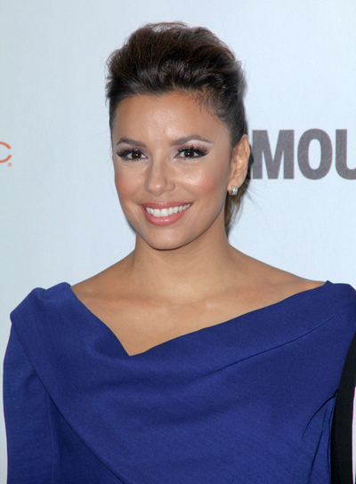 Eva Longoria Chic, Sophisticated, Brunette Updo