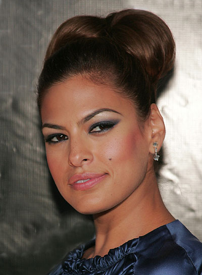 Eva Mendes Brunette, Formal Updo