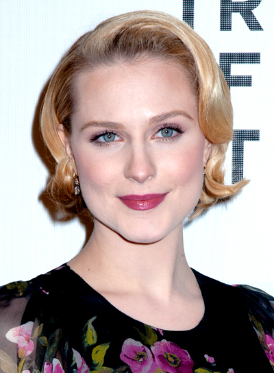 Evan Rachel Wood's Short, Blonde, Wavy, Romantic Hairstyle