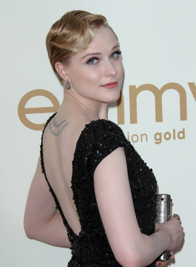 Evan Rachel Wood Short, Wavy, Blonde Hairstyle