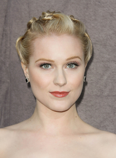 Evan Rachel Wood Edgy, Funky, Sophisticated, Blonde Updo with Braids and Twists