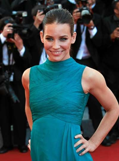 Evangeline Lilly Straight, Sophisticated, Brunette Updo