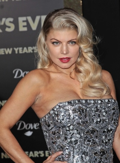Fergie Long, Curly, Sexy, Romantic, Funky, Blonde Hairstyle