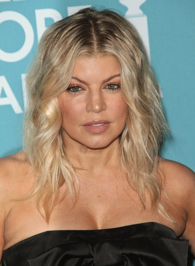 Fergie Wavy, Tousled, Blonde, Party Hairstyle
