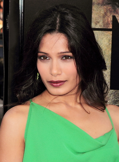 Frieda Pinto Sophisticated, Black Hairstyle