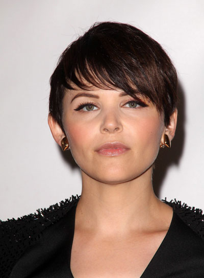 Ginnifer Goodwin Short, Straight, Edgy Hairstyle with Bangs