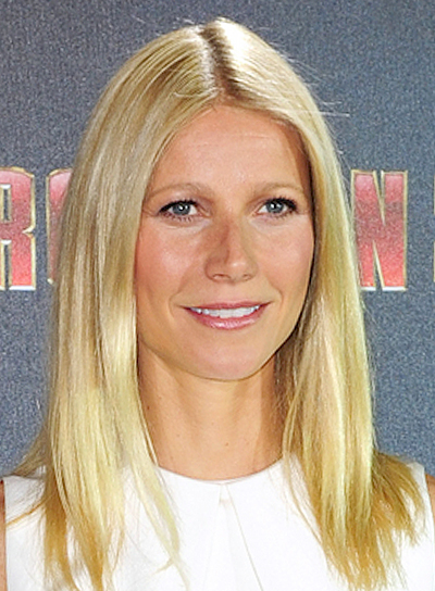 Gwyneth Paltrow's Medium, Straight, Blonde, Chic Hairstyle