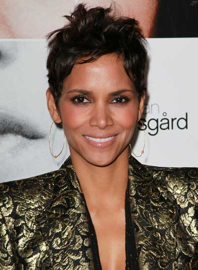 Halle Berry Edgy, Romantic Hairstyle
