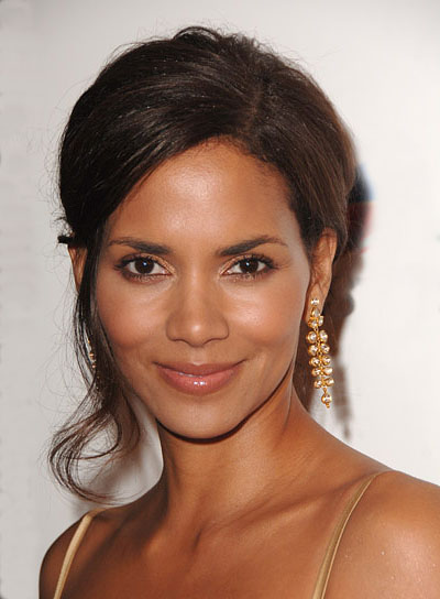 Halle Berry Romantic Updo