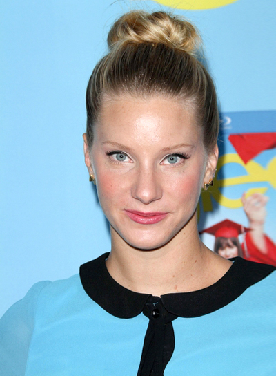 Heather Morris' Chic, Blonde, Party, Updo Hairstyle