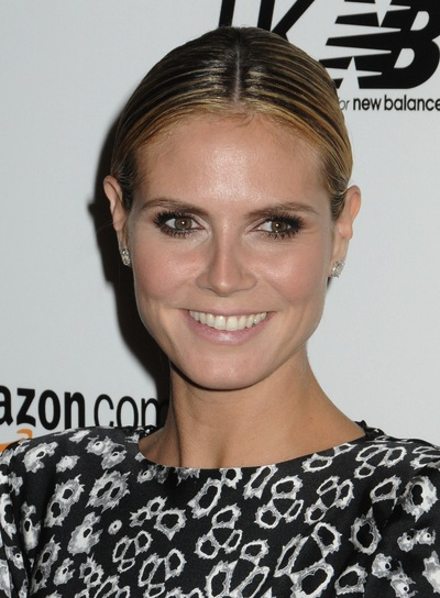 Heidi Klum Chic, Straight Updo with Highlights