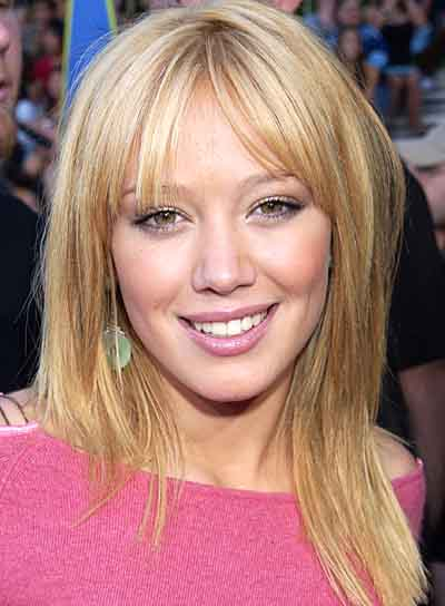 Hilary Duff Medium, Straight Hairstyle with Bangs