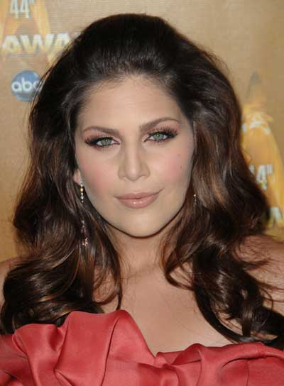 Hillary Scott Long, Wavy, Romantic, Brunette Hairstyle