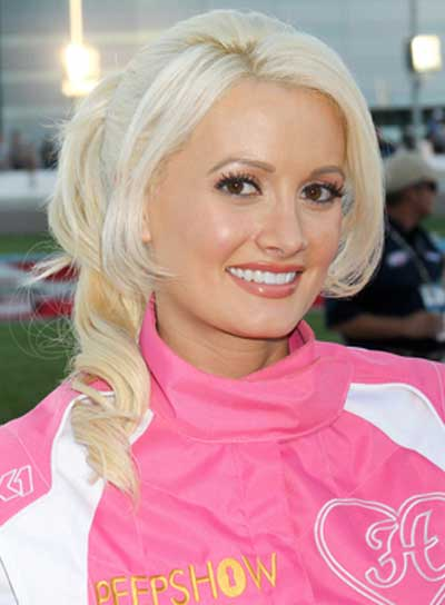 Holly Madison Curly, Romantic, Ponytail