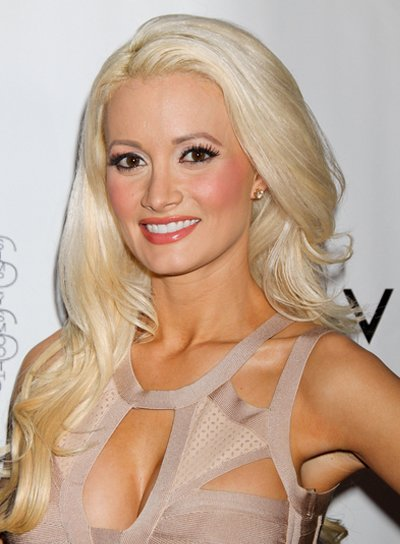 Holly Madison Sexy, Layered, Blonde Hairstyle